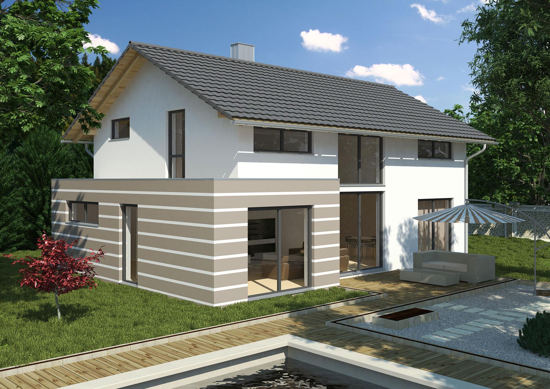 Hausidee solaris select massivhaus gmbh for Massivhaus modern