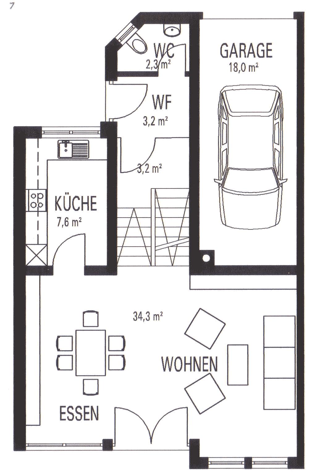 hausidee splitlevel select massivhaus gmbh. Black Bedroom Furniture Sets. Home Design Ideas